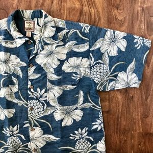 Tommy Bahama Silk & Linen Blend Hawaiian Shirt